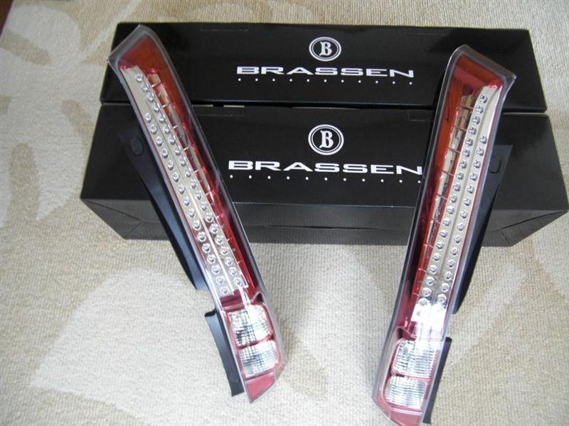 BRASSEN LEDテールランプ クリア/レッドクロームインナー