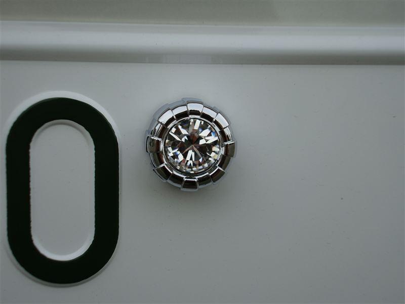 LUXIS クリスタルナンバーボルト&キャップ