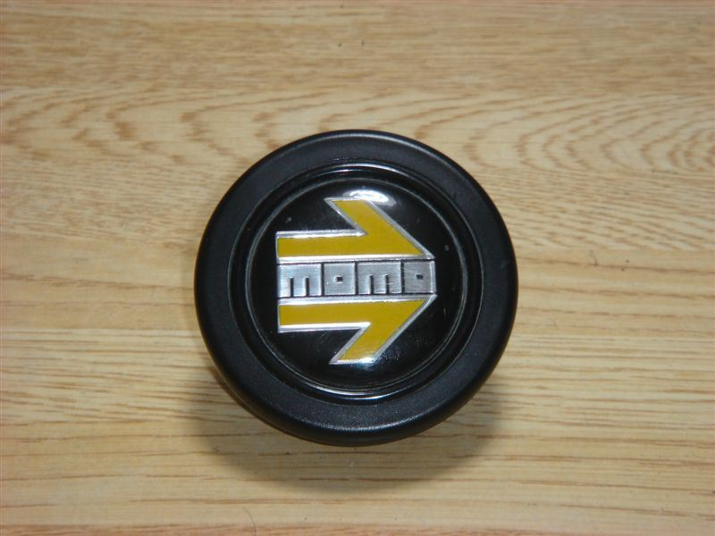 872111013 MOMO Steering Wheel Horn Button Yellow Heritage HB-22