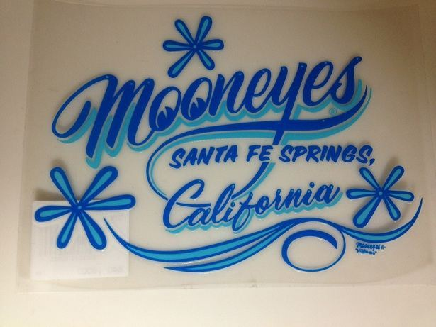 California Pinstripe Sticker ブルー