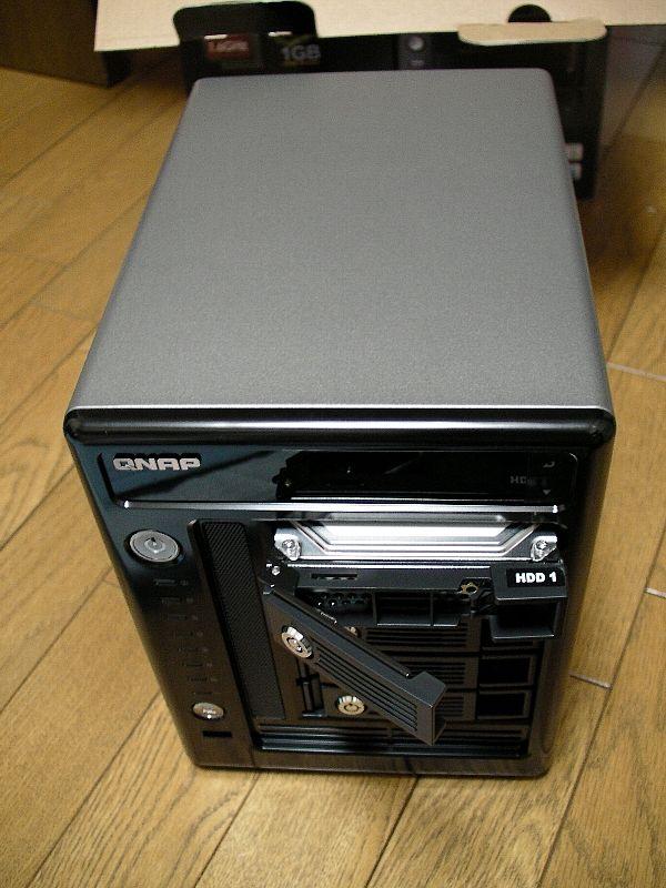 QNAP TS-509 Pro、3.5inchHDD使用