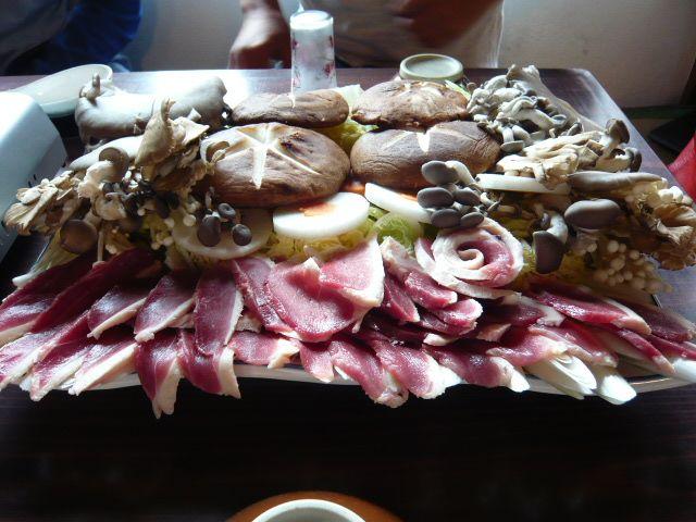 鴨肉&巨大椎茸