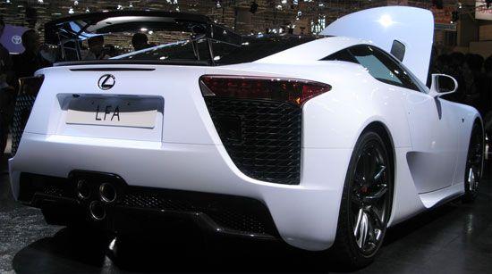Lexus LFA リアビュー