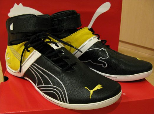 PUMA Future Cat Remix Mid (Black / Vibrant Yellow)