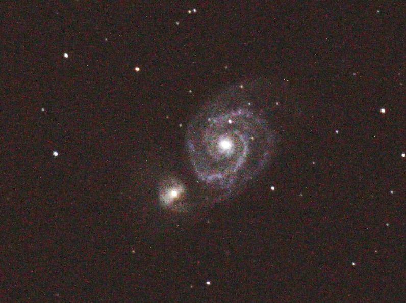 2ヶ月後の子持ち銀河M51