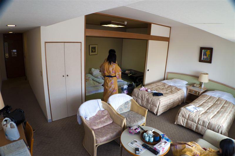 温泉ホテルの部屋