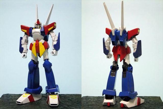 HG百式ベースのザンダクロスです。<br /> <br /> 基本構成は百式。<br /> 肩の装甲はゴダイガー。<br /> 腕の青い部分はリガズィ。<br /> 脚の青い部分はトライダーG7。<br /> 足首はプラ板の箱組み。<br /> <br /> 等々・・・・・