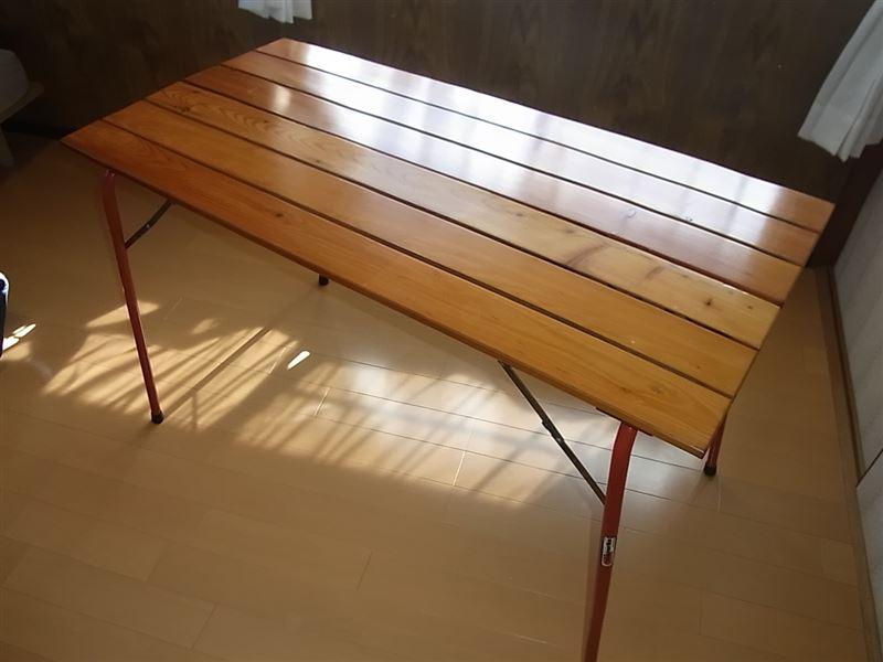 カステルメルリーノCastelmerlino 折りたたみ 木製 アウトドア テーブル&チェアー