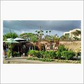 海から上がって、宮古島の南西にある来間島のカフェへ来てみた。<br /> なにやらオシャレ感。