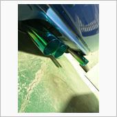 発色チタン マフラーカッター 色合いは出口グリーン風 全て特注にて製作