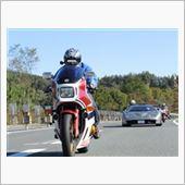 HONDA CB1100RD と LAMBORGHINI DIABLO GTR
