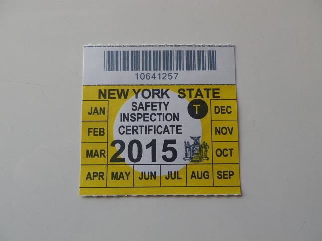 New York State Inspection Sticker Colors Empat