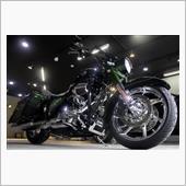 『完璧を求めるライダーのバイク』ハーレー・ロードキングのガラスコーティング【ラディアス湘南】