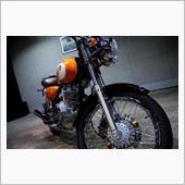 フォックスオレンジメタリックが美しい、SUZUKI ST250 Eタイプのガラスコーティング【ラディ