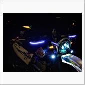 LEDプロジェクターヘッドライトの照射範囲
