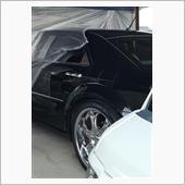 車庫の中で、即席の塗装ブースを造って塗装しました(>_<)/~~