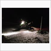 KLX125 雪の降ってる時に
