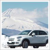 富士山をバックに愛車撮影
