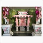 中は……新生姜の色にちなんでピンクだらけです(^^;<br /> <br /> 神社もピンク(爆)