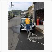 洗車をする(๑˃̵ᴗ˂̵)