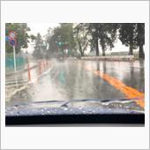大雨の中・・・