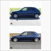 車高調交換前後比較