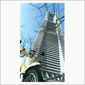 ランドマークタワーとカブ110