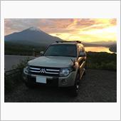 2018年5月 富士山・夕焼けとパジェロ