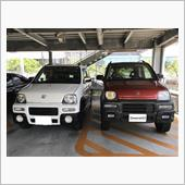 先輩ホンダZと車高比較