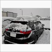 夏タイヤのまま雪だるま。
