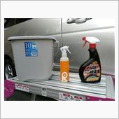 8月度の洗車(バケツ洗車)