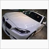 アルピンホワイトが美しいBMW528iツーリングのガラスコーティング【リボルト千葉】
