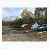 キャンプとパンダ
