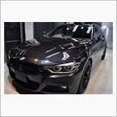 「黒」BMW 3シリーズツーリングのガラスコーティング【リボルト神戸】