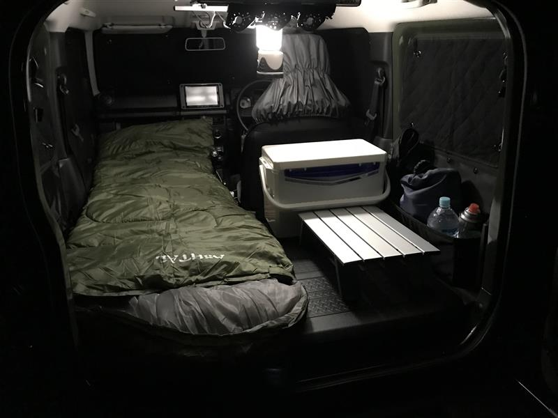 車中泊<br /> 177cm 足のばして眠れます