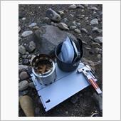 河川敷でミリ飯