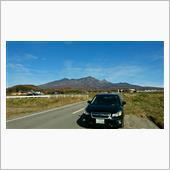 秋晴れの八ヶ岳と富士山