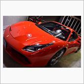 スーパーカーの王道。フェラーリ・488スパイダーのガラスコーティング【リボルト川崎】