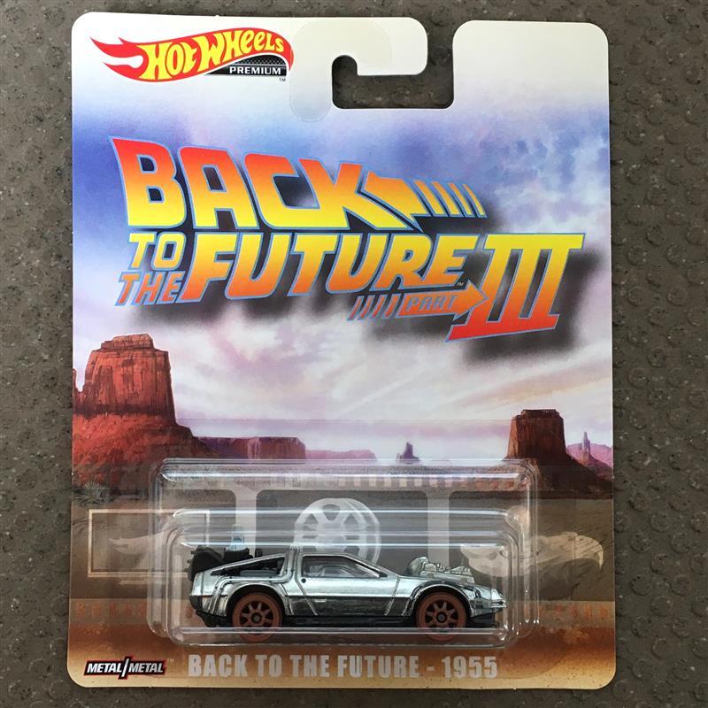 BACK TO THE FUTURE - 1955<br /> <br /> 「バック・トゥ・ザ・フューチャー パートⅢ」に登場したデロリアン。過去にもモデル化されてきたが、車輪が鉄道用に換装された仕様は初登場だ。<br />