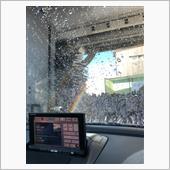 洗車中に虹🌈なんか得したみたい!