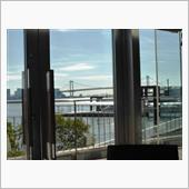 窓からはレインボーブリッジが見えてました~\(^o^)/