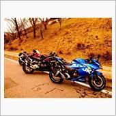 旅先でバイク写真