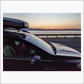 猪苗代湖の夕日に染まるクーガ
