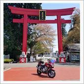 バイク神社と足湯!