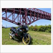 大阪南港の港大橋をバックにパシャリ&ご近所プラプラツーリング