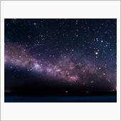 初春の夜空(春の天の川)とサンライズ朝焼け 小田原市 江ノ浦付近 R135