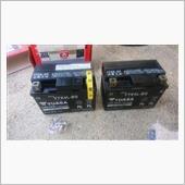 バッテリー、エアクリーナー、レッグシールド交換