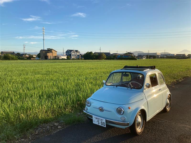 ずっと向こうに我家が・・・<br /> <br /> 水田の稲が青々で<br /> <br /> あらためて田舎を認識(笑)