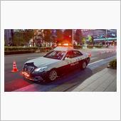 オリンピック警戒中の山口県警のパトカー!お断りをしてワンショット!