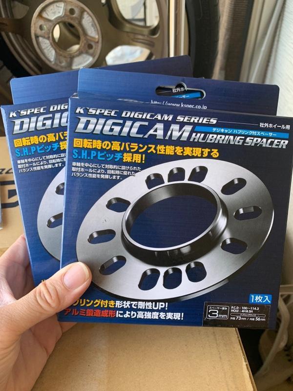 K'spec DIGICAM アルミ鍛造 ハブリング付きスペーサー 3mm